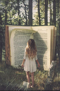 Book-and-girl